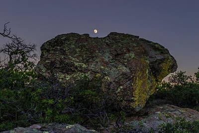 Boulder Moonrise Art Print
