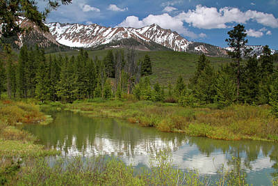 Photograph - Boulder Mountains by Ed  Riche