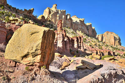 Photograph - Boulder Notom Castle by Ray Mathis