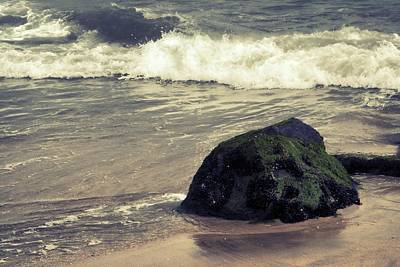 Photograph - Boulder On Beach - Jersey Shore by Angie Tirado