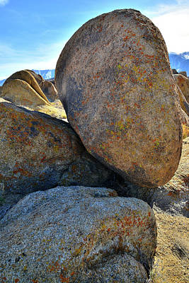 Photograph - Boulder On The Edge In The Alabama Hills by Ray Mathis
