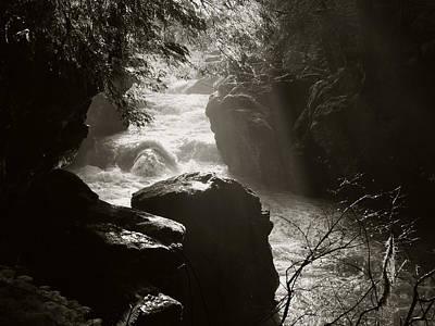 Mellow Yellow - Boulder River in Black and White by Kenneth Willis