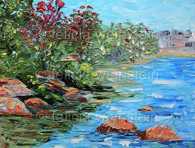 Painting - Boulders 1 by Felicia Weinstein