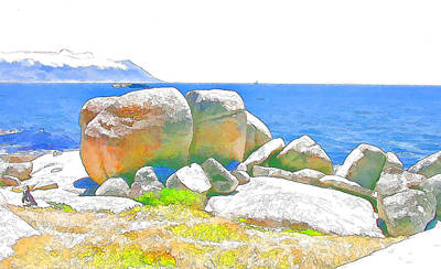 Boulders 4 Art Print by Jan Hattingh