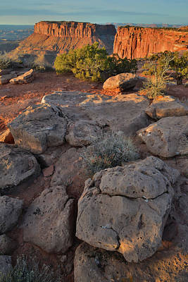 Photograph - Boulders At Grand View Point In Canyonlands National Park by Ray Mathis
