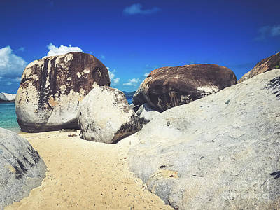 Photograph - Boulders At The Baths - Virgin Gorda by Colleen Kammerer