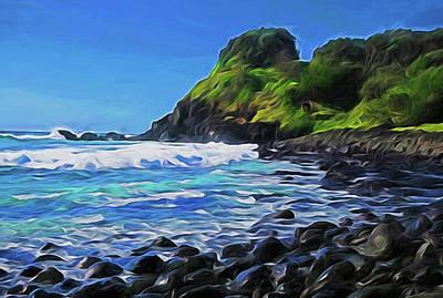 Digital Art - Boulders Beach by Dennis Cox