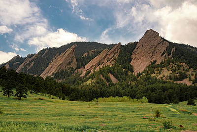 Photograph - Boulder's Flatirons by Philip Rodgers