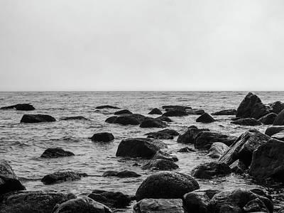 Boulders In The Ocean Art Print