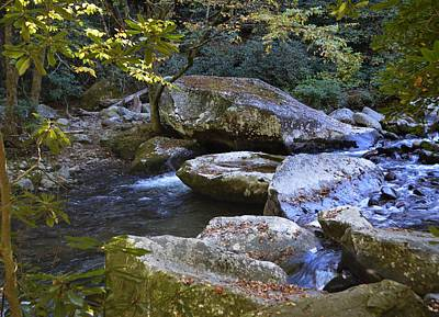 Photograph - Boulders Of Big Creek by rd Erickson