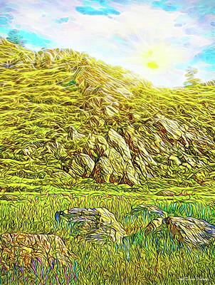 Digital Art - Boulders Of The Mountain - Colorado Meadow by Joel Bruce Wallach