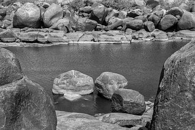 Art Print featuring the photograph Boulders Of Tungabhadra, Hampi, 2017 by Hitendra SINKAR