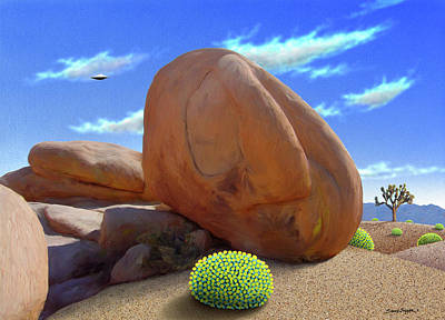 Boulders Art Print by Snake Jagger