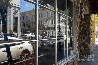 Photograph - Boulevard Barbers And Shaving Parlor In Petaluma California Usa Dsc3742 by Wingsdomain Art and Photography