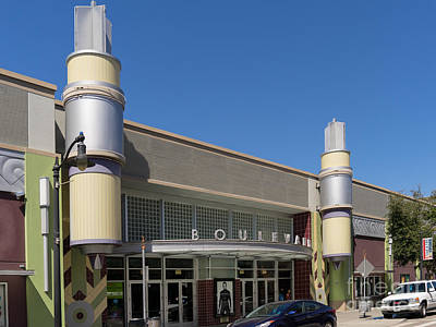Boulevard Cinemas Theater In Petaluma California Usa Dsc3830 Art Print by Wingsdomain Art and Photography