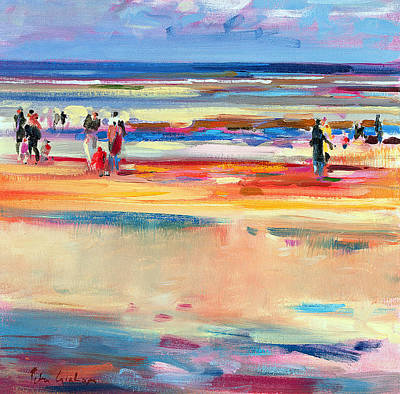 People On Beach Wall Art - Painting - Boulevard De Boudin by Peter Graham