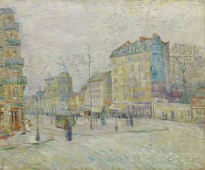 Painting - Boulevard De Clichy Paris  March  April 1887 Vincent Van Gogh  1853  1890 by Artistic Panda