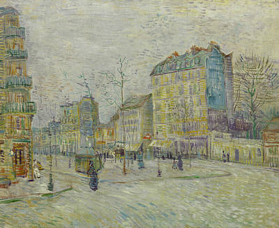 French Cities Painting - Boulevard De Clichy by Vincent van Gogh
