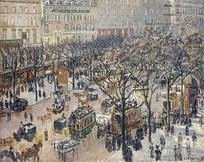 Comic Character Paintings - Boulevard des Italiens by MotionAge Designs