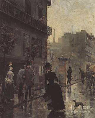 Painting - Boulevard In Paris by Celestial Images