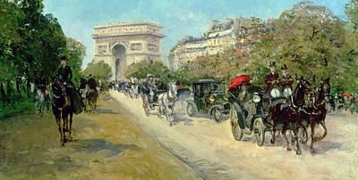 Stein Painting - Boulevard In Paris by Georges Stein
