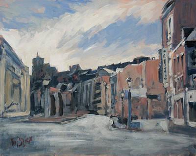 Painting - Boulevard La Sauveniere Liege by Nop Briex