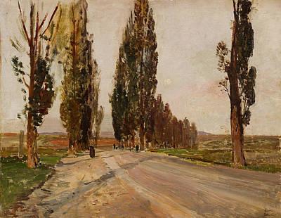 Painting - Boulevard Of Poplars Near Plankenberg by Emil Jakob Schindler