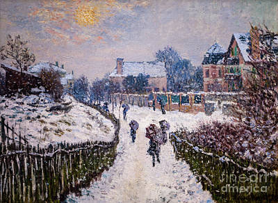 Painting - Boulevard Saint Denis Argenteuil In Winter by Claude Monet
