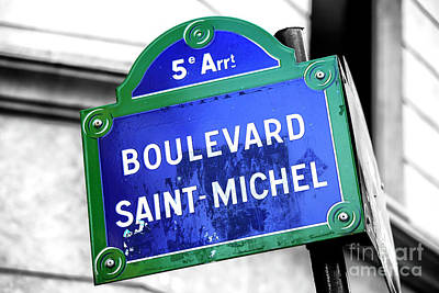 Photograph - Boulevard Saint-michel Paris by John Rizzuto