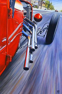 Hot Rod Wall Art - Painting - Boulevard T by Ruben Duran