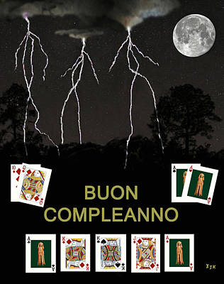 Boun Compleanno  Happy Birthday Poker  Art Print