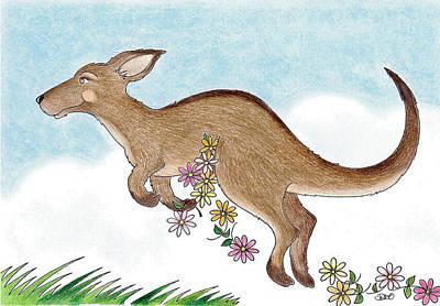 Kangaroo Mixed Media - Bounce by Debi Hammond