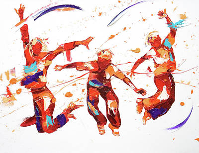 Exuberance Painting - Bounce by Penny Warden