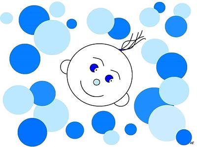 Digital Art - Bouncing Baby Boy by Will Borden