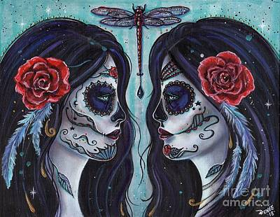 Painting - Bound For Eternity Day Of The Dead by Renee Lavoie
