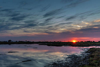 Photograph - Boundary Bay Shoreline Sunset by Pierre Leclerc Photography
