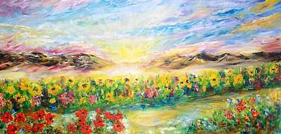 Sunset Painting - Boundary  by Mary Sedici