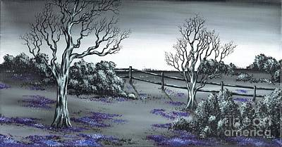 Painting - Boundry Fence. by Kenneth Clarke