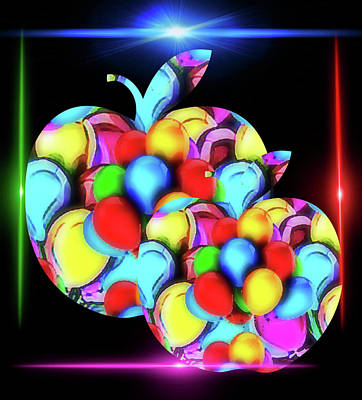 Digital Art - Bountiful Apples by Gayle Price Thomas