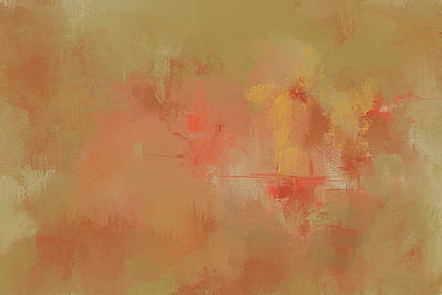 Simple Abstract Art Painting - Bountiful Autumn Abstract Painting by Jai Johnson