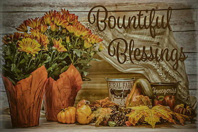 Still Life Royalty-Free and Rights-Managed Images - Bountiful Blessings by Teresa Wilson