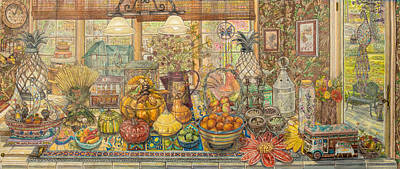 Bountiful Harvest Art Print by Bonnie Siracusa