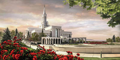 Lds Painting - Bountiful Temple by Brent Borup