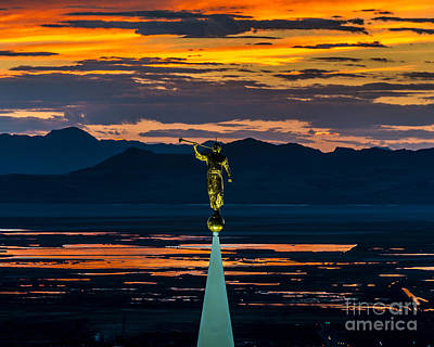 Photograph - Bountiful Temple Sunset - Special Order by Gary Whitton