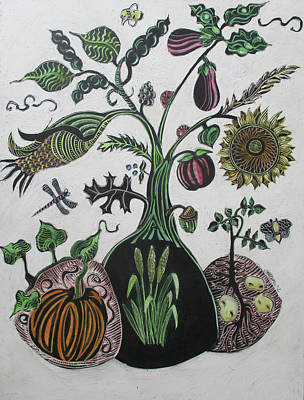 Drawing - Bountiful Tree by Grace Keown