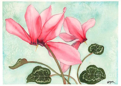 Cyclamen Painting - Bounty by Hilda Wagner