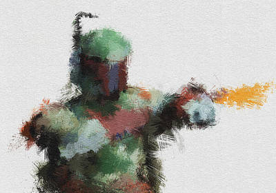 Boba Painting - Bounty Hunter by Miranda Sether