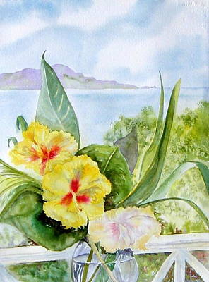 Painting - Bounty On The Balcony by Diane Kirk