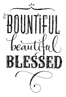 Hand Drawn Photograph - Bounul, Beauul, Blessed Lettering - Ai by Gillham Studios