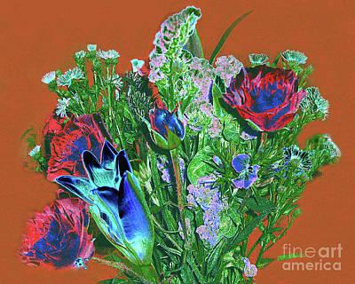 Photograph - Bouquet - Digital Pastel Painting by Merton Allen